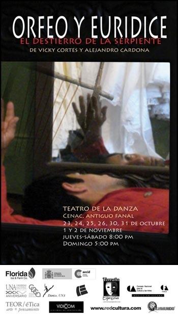 """Cartel oficial para el estreno de """"Orfeo y Euridice"""" de Alejandro Cardona."""
