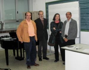 De izq. q der.: José Luis Carle, Adolfo Nuñez, Joaquina Labajo e Igor de Gandarias.
